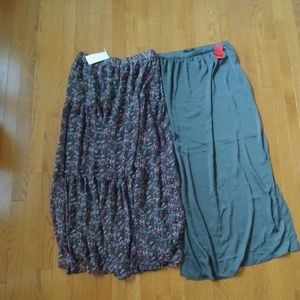 Lot of 2 maxi skirts NWT